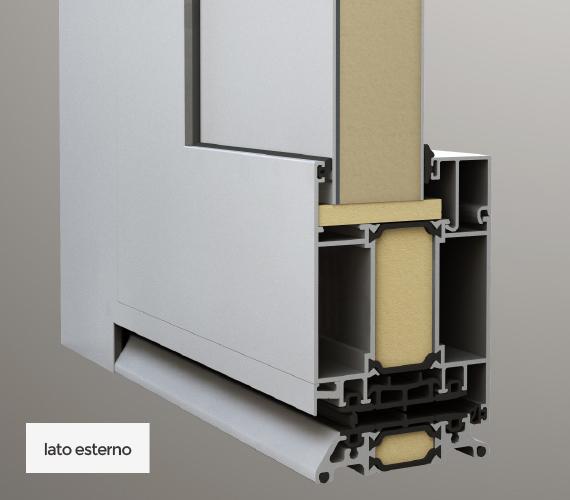 Pannello inserito interno/esterno - lato esterno