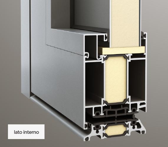 Pannello inserito interno/esterno - lato interno