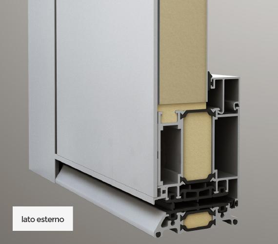 Pannello monofacciale - lato esterno