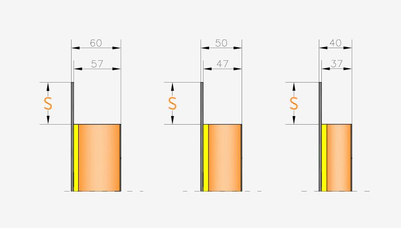 Pannelli per portoncini d'ingresso Serie 3000 - Spessori pannello interno liscio inciso