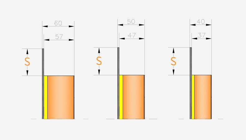 Pannelli per portoncini d'ingresso Serie 8000 - Spessori pannello interno liscio ed inciso