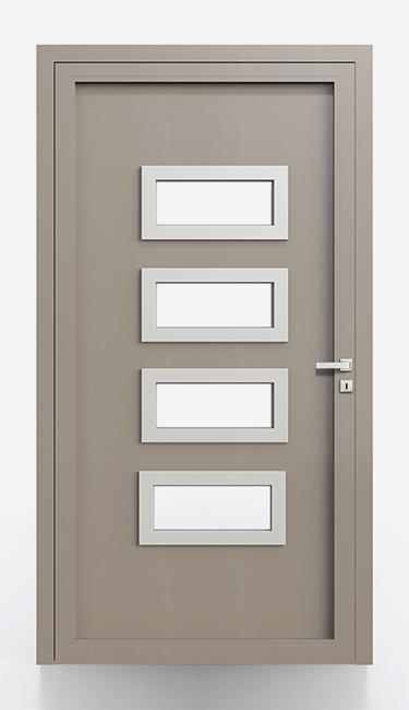 Pannelli per portoncini d'ingresso Serie 5000 - Lato interno liscio cornice in alluminio