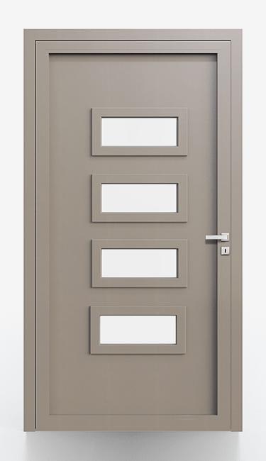 Pannelli per portoncini d'ingresso Serie 5000 - Lato interno liscio cornice in tinta